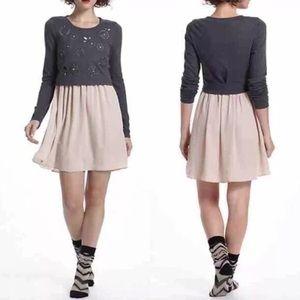 E by Eloise Gray Eyelet Blush Sweater Dress - S